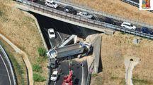 L'incidente visto dall'alto