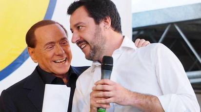 Silvio Berlusconi e Matteo Salvini (Ansa)