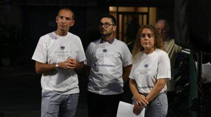 Un momento del presidio di solidarietà per Daniele Ferretti (Valtriani)