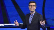 Fabio Fazio durante la trasmissione televisiva 'Che tempo che fa' (Ansa)