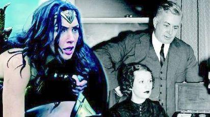 Gal Gadot, Wonder Woman più attuale. A destra William Moulton Marston con la moglie