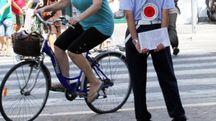 Pesaro, ciclisti e controlli (Fotoprint)