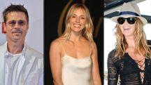 Brad Pitt, Sienna Miller, Elle Macpherson