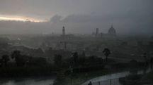 Firenze avvolta dal maltempo (foto Giuseppe Cabras/New Pressphoto)