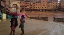 Il temporale di ieri in Piazza