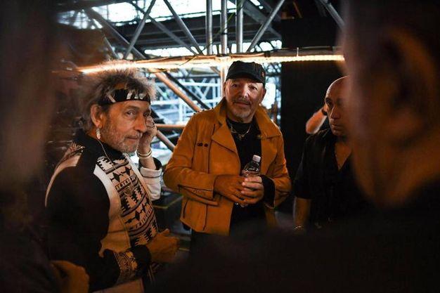 Vasco Rossi nel backstage (Foto Ansa)