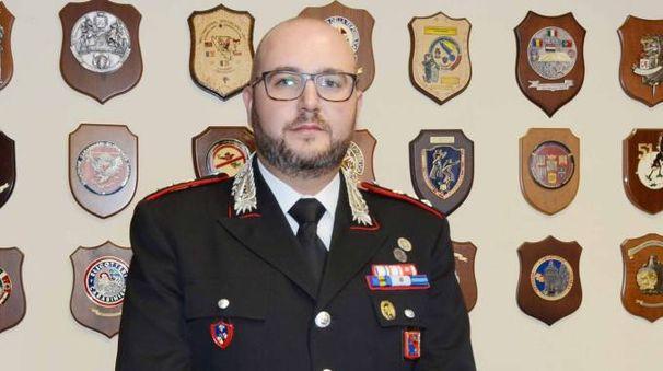 Andrea Pezzo, comandante  della compagnia carabinieri di Castelmassa