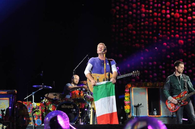 I Coldplay in concerto a Milano (Newpress)