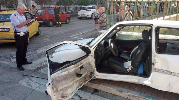 Una delle auto coinvolte