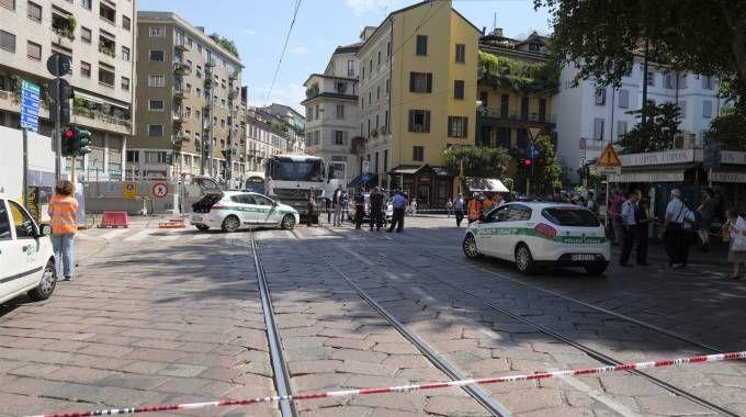 Incidente in piazza Resistenza Partigiana (NewPress)