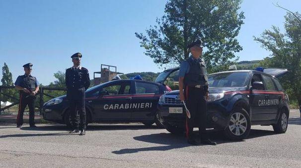 Un posto di blocco dei carabinieri