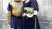 Lattanzi e la dama del sestiere di Porta Solestà Vanessa Leonardi (Foto Labolognese)