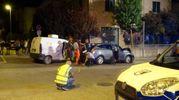 I rilievi dopo l'incidente a Calcinelli di Saltara