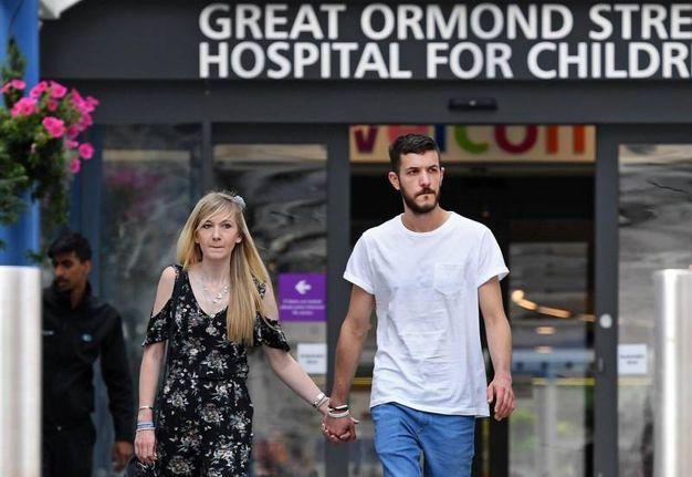 Chris Gard e Connie Yates, genitori di Charlie Gard, nei giorni scorsi (Ansa)