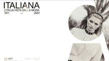 La locandina della mostra 'Italiana', che si terrà a Milano