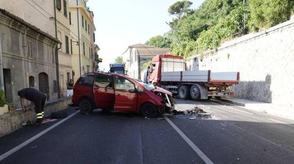 Il luogo dell'incidente (foto Zeppilli)