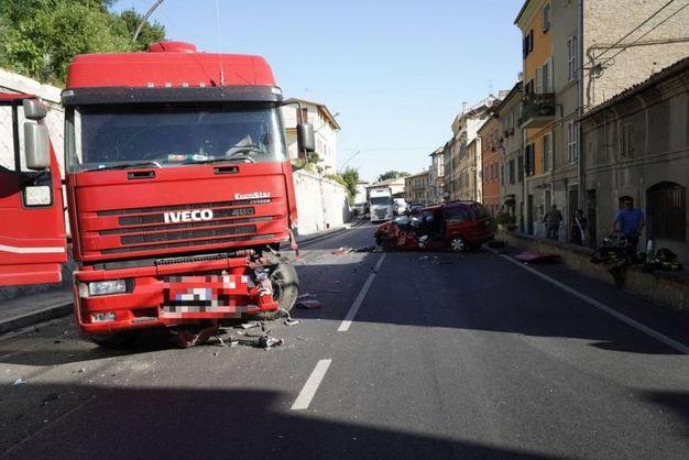 L'incidente è avvenuto a Pedaso (foto Zeppilli)