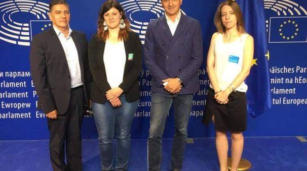 I tre componenti del comitato Papa Giovanni, ricevuti dall'onorevole Alberto Cirio