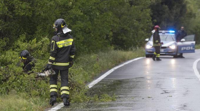 Vigili del fuoco al lavoro per il maltempo