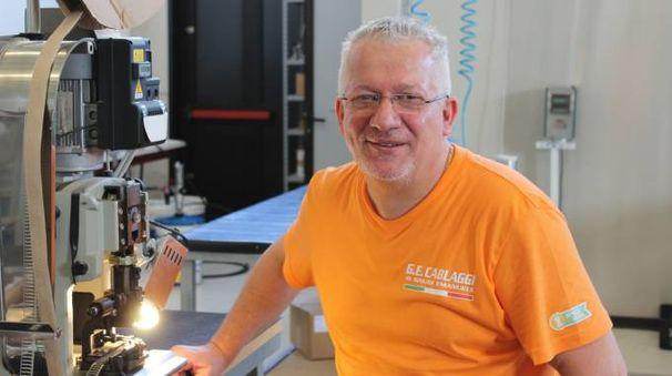 L'imprenditore Emanuele Gnudi, 50 anni, nell'ultimo anno ha raddoppiato la produzione