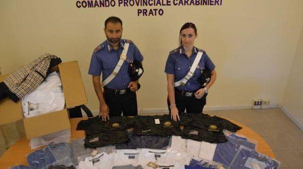 I capi sequestrati dai carabinieri di Prato