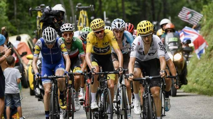 Chris Froome e Fabio Aru al Tour de France (Afp)