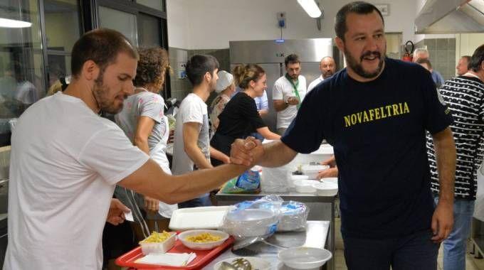Il leader leghista Matteo Salvini (foto Frasca)