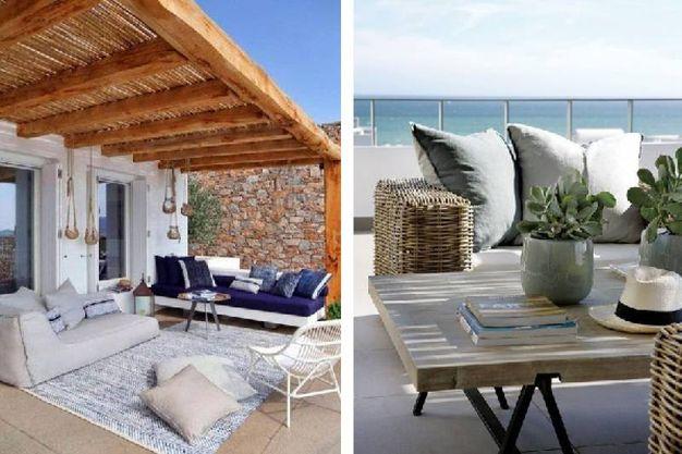 Outdoor in stile mediterraneo per la casa al mare for Design mediterraneo per la casa