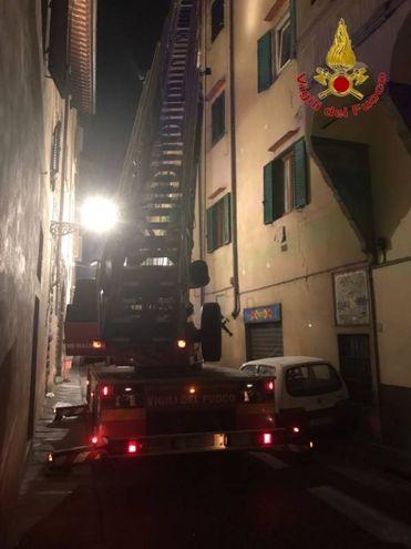 Incendio in via de' Neri