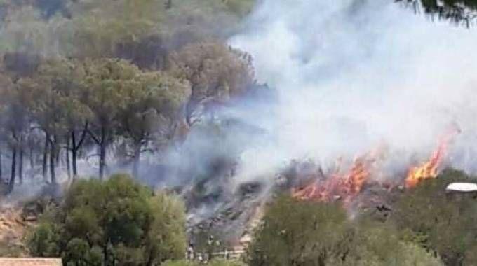 Incendio a Castiglione della Pescaia