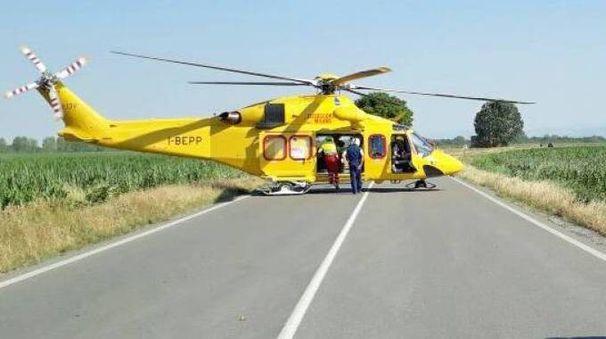 L'elicottero del 118 (foto repertorio)