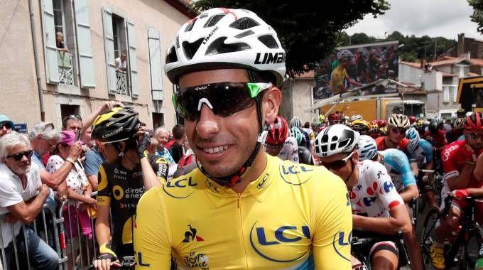 Fabio Aru in maglia gialla al Tour de France (LaPresse)