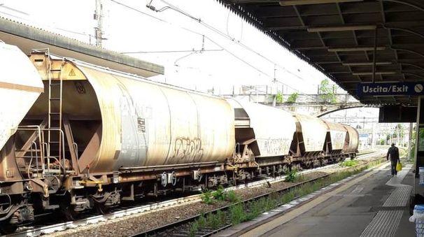 Il treno merci è rimasto bloccato allo scalo di Codogno