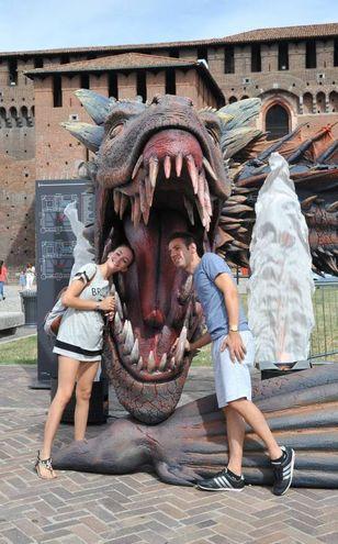 Per festeggiare l'inizio della settima stagione della serie due giorni di eventi al Castello Sforzesco di Milano (Newpress)