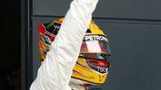Lewis saluta i suoi fan inglesi (LaPresse)