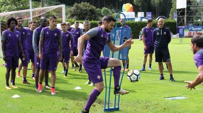 La Fiorentina in allenamento a Moena (Fotocronache Germogli)
