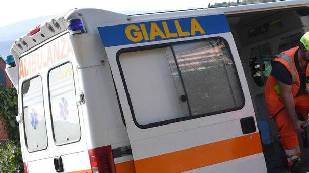 Un'ambulanza a Genova