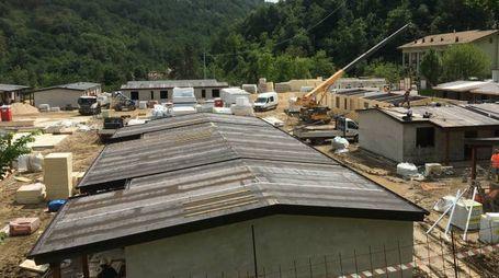 Terremoto, le 'casette' in costruzione ad Arquata del Tronto
