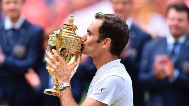 Roger Federer vince Wimbledon per l'ottava volta (Afp)