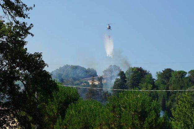 L'incendio di Santa Maria a Monte (Foto Sarah Esposito / Fotocronache Germogli)