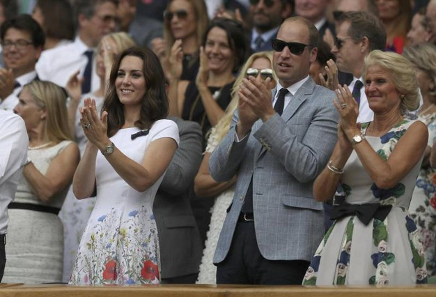 Kate e William a Wimbledon 2017 (Ansa)