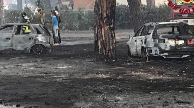 Due delle auto distrutte