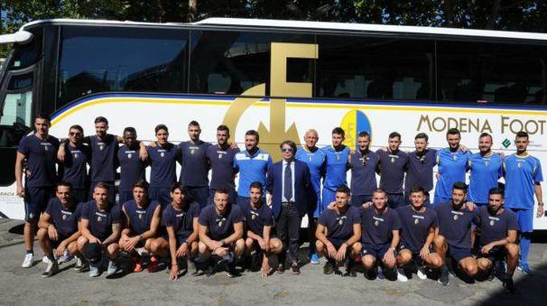 La squadra in partenza per il ritiro a Fanano