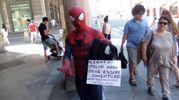 Spiderman in via Rizzoli