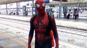 Spiderman in stazione a Roma