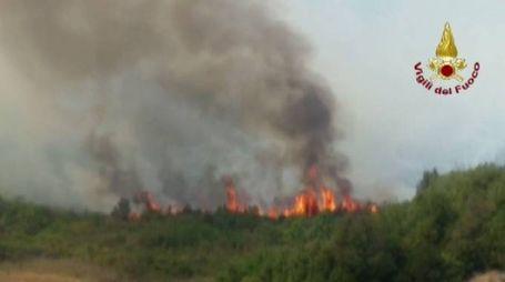 L'incendio di Volterra dei giorni scorsi