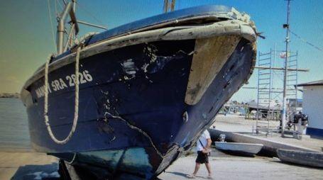 L'imbarcazione Nancy sulla quale si trovava il pescatore