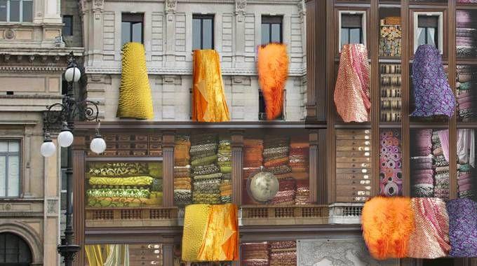 Il rendering delle installazioni che saranno posizionate in città durante la Fashion Week