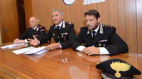 La conferenza stampa dei carabinieri (Foto Donzelli)