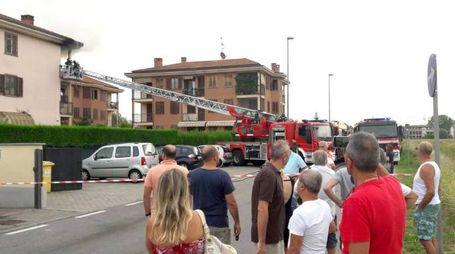 Incendio in un appartamento di Zibido (Spf)